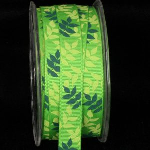 GREEN JUNGLE GROSGRAIN RIBBON