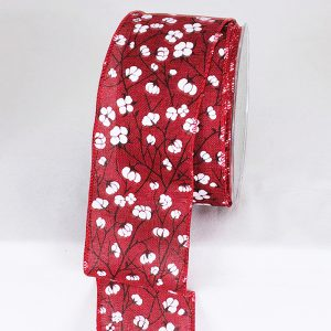 RED COTTON FLOWER RIBBON
