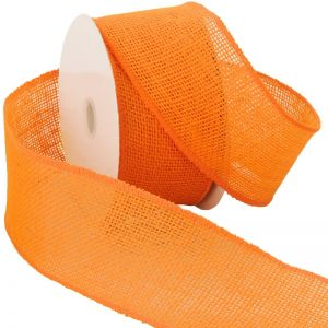 orange burlap ribbon
