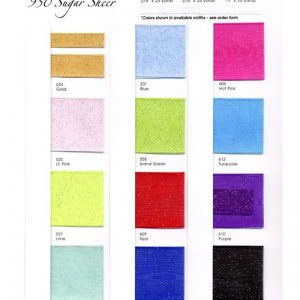 SUGAR SHEER COLOR CHART