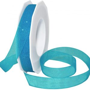 TURQUOISE SUGAR SHEER RIBBON