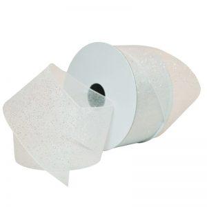 WHITE Sugar Sheer Organdy Ribbon