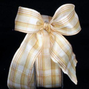 IVORY Canterbury Plaid Ribbon