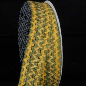 GREEN Chenille Ribbon Wire Edge