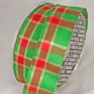 RED AND GREEN CHECK RIBBON