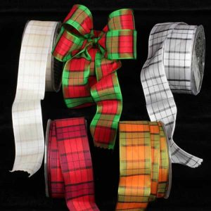 FRENCH CHECK RIBBON ALL COLORS
