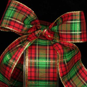 Metallic Edge Plaid Ribbon