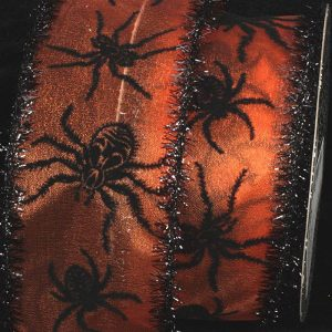 BLACK AND ORANGE SPIDER RIBBON