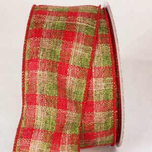 "2 1/2"" red and green plaid"