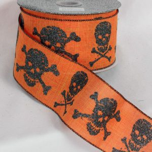 ORANGE Skulls Ribbon