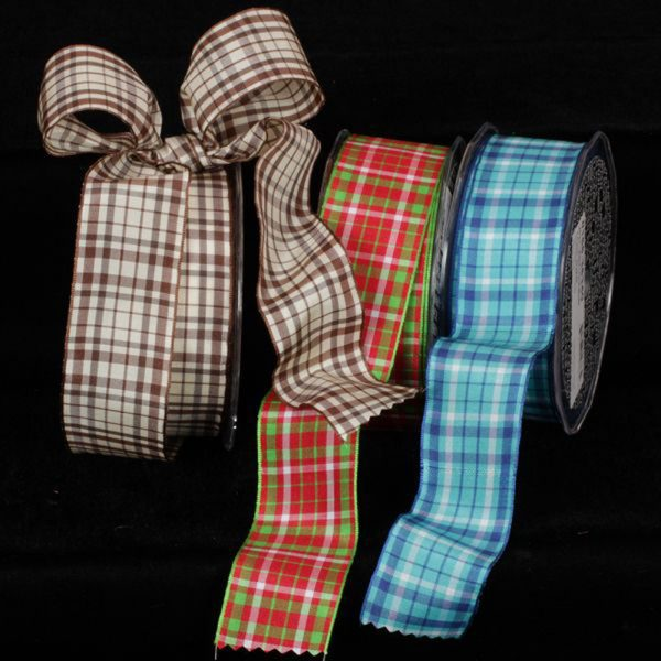 Taffeta Check Ribbon all colors