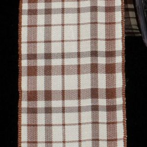 Taffeta BROWN AND IVORYCheck Ribbon