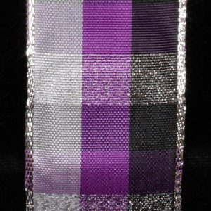 Metallic Check Ribbon