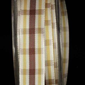 Wired Woven Narrow Plaid Ribbon