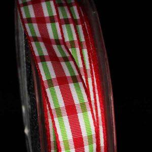 Woven Narrow Plaid Ribbon