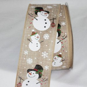 NATURAL SNOWMAN RIBBON