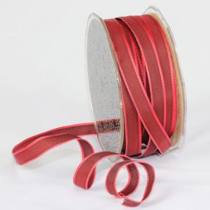 "3/8"" BURGUNDY TAFFETA RIBBON"