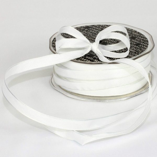 White Taffeta Ribbon