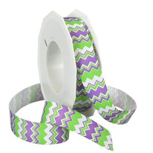 ISLAND GREEN AND PURPLE CHEVRON