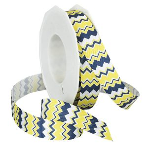 NAVY AND LEMON CHEVRON