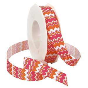 ORANGE AND HOT PINK GROSGRAIN
